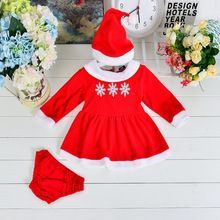 3pcs/set In Stock Christmas Girl Clothing Set Fashion Toldder's New year clothing set Kids Trendy Snow Christmas Clothes Set(China (Mainland))