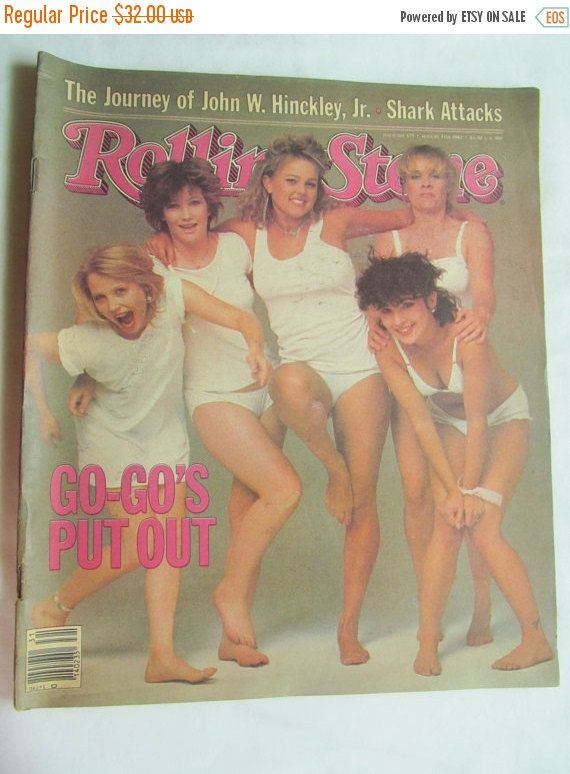 SALE The Go Go's Rolling Stone Magazine 1982 by ReVintageLannie