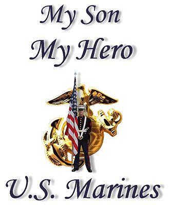 Proud Of Grandson Quotes My Son My Hero Metalic U S Marine Corps