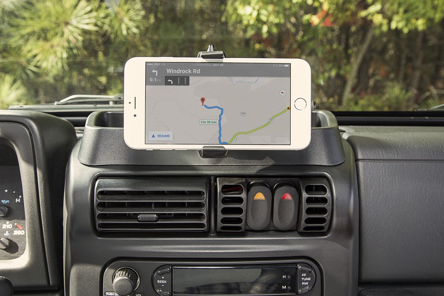 Rugged Ridge 13551 19 Dash Multi Mount System With Phone Holder
