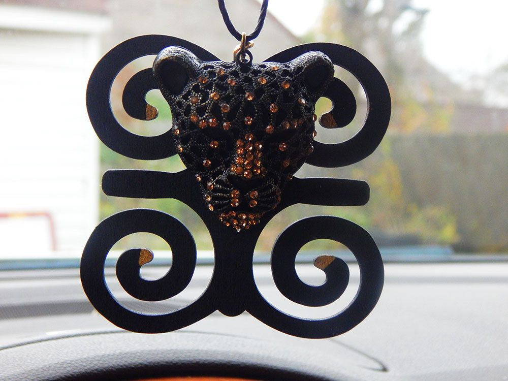 New to TheBlackerTheBerry on Etsy: Black Panther Car Charm Handmade ...