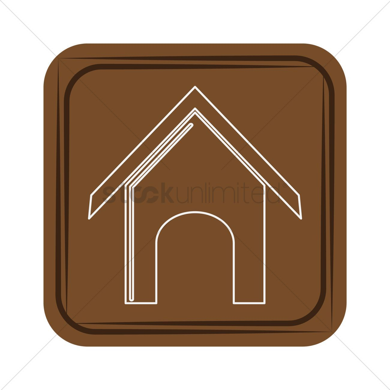 Dog kennel stock vector