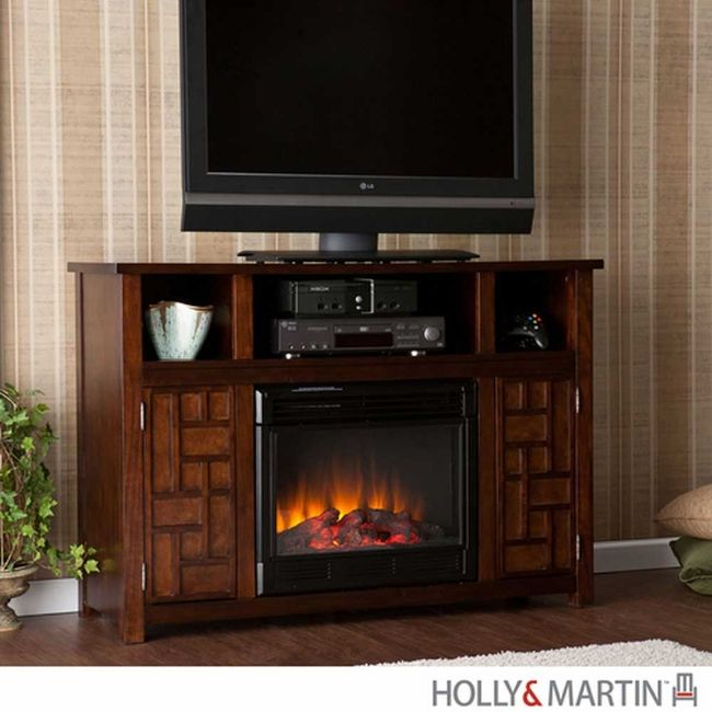 Hensley Electric Media Fireplace Espresso For The Lowest