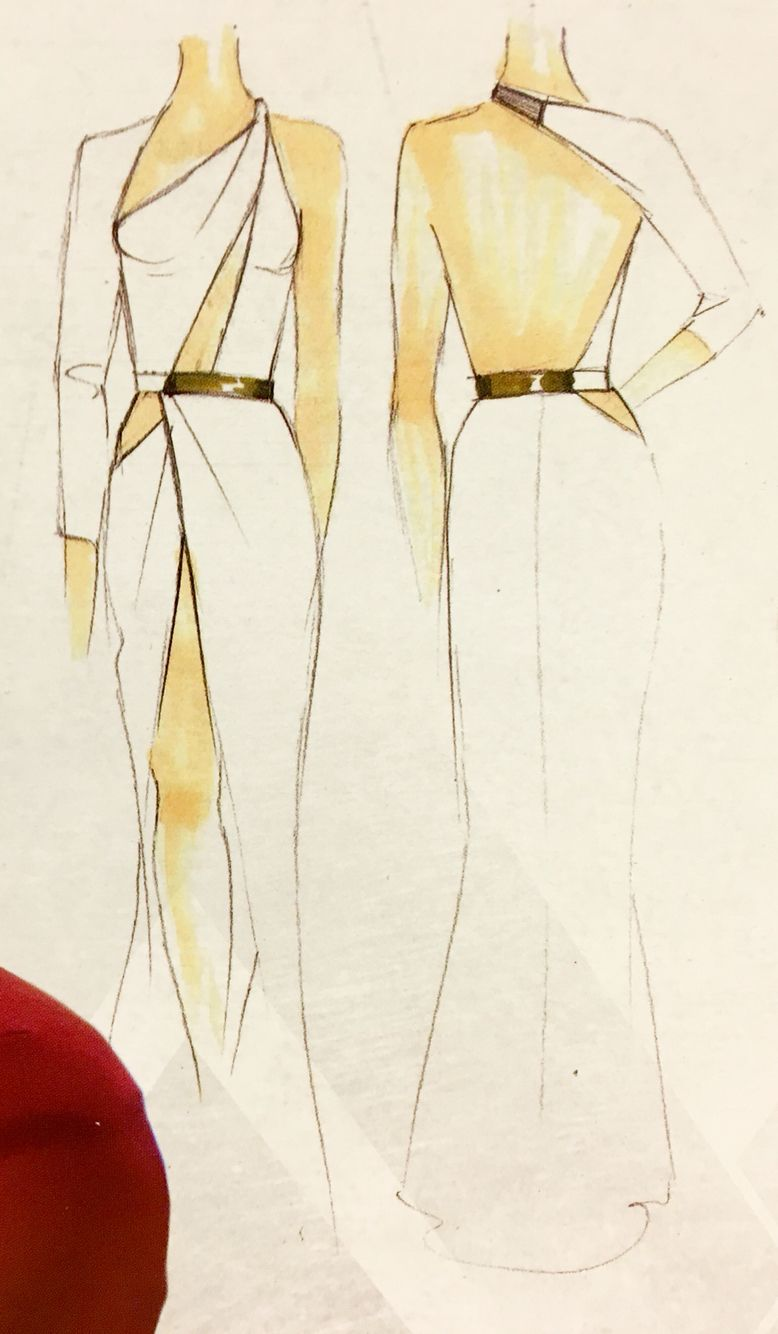 Concept art of an evening gown for Wonder Woman / Diana Prince from ...