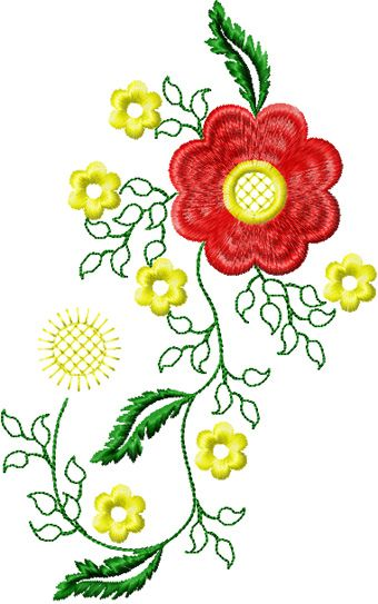 Flower Small Element 2 Embroidery Design Quilling Ideas