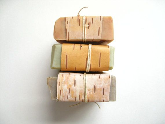Pick Three Bars // Birch Blond Edition // by swampangelsoap, $18.00