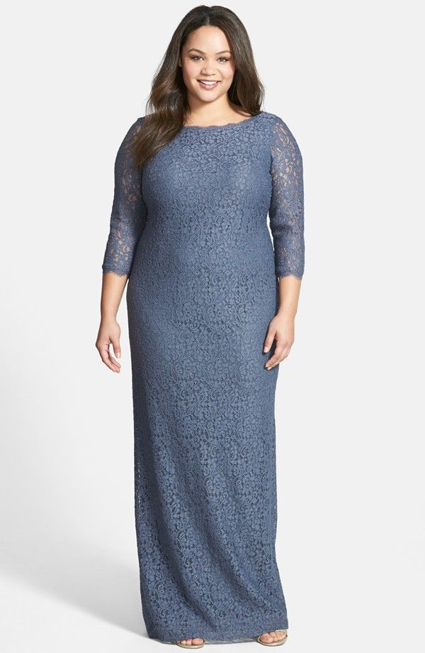 Adrianna Papell Scalloped Lace Gown (Plus Size) | Nordstrom | 2016 ...