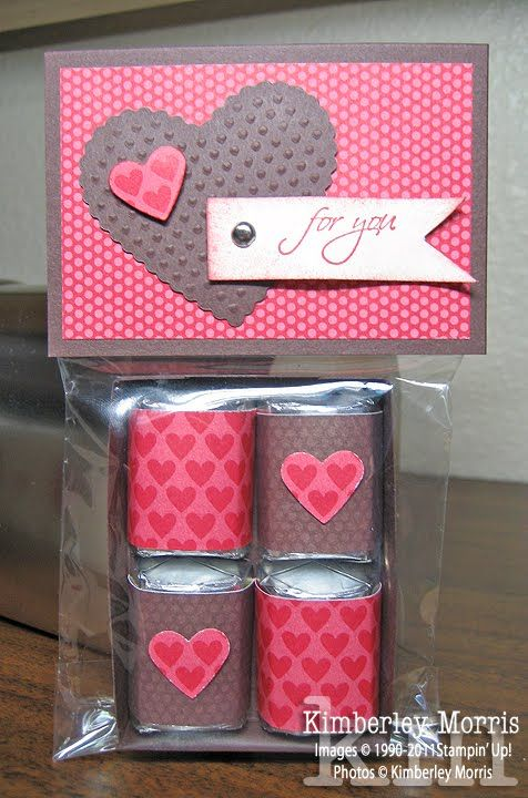 Simple Hershey Nugget gift bag. | Stampin' Up! Valentine ...