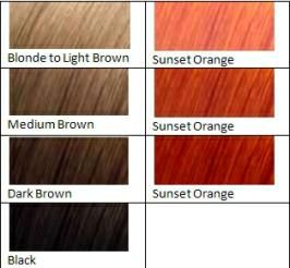 Sunset Orange Hair Dye Dyed Hair Henna Hair Dyes