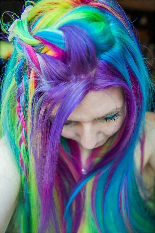 Rainbow hair color 2016