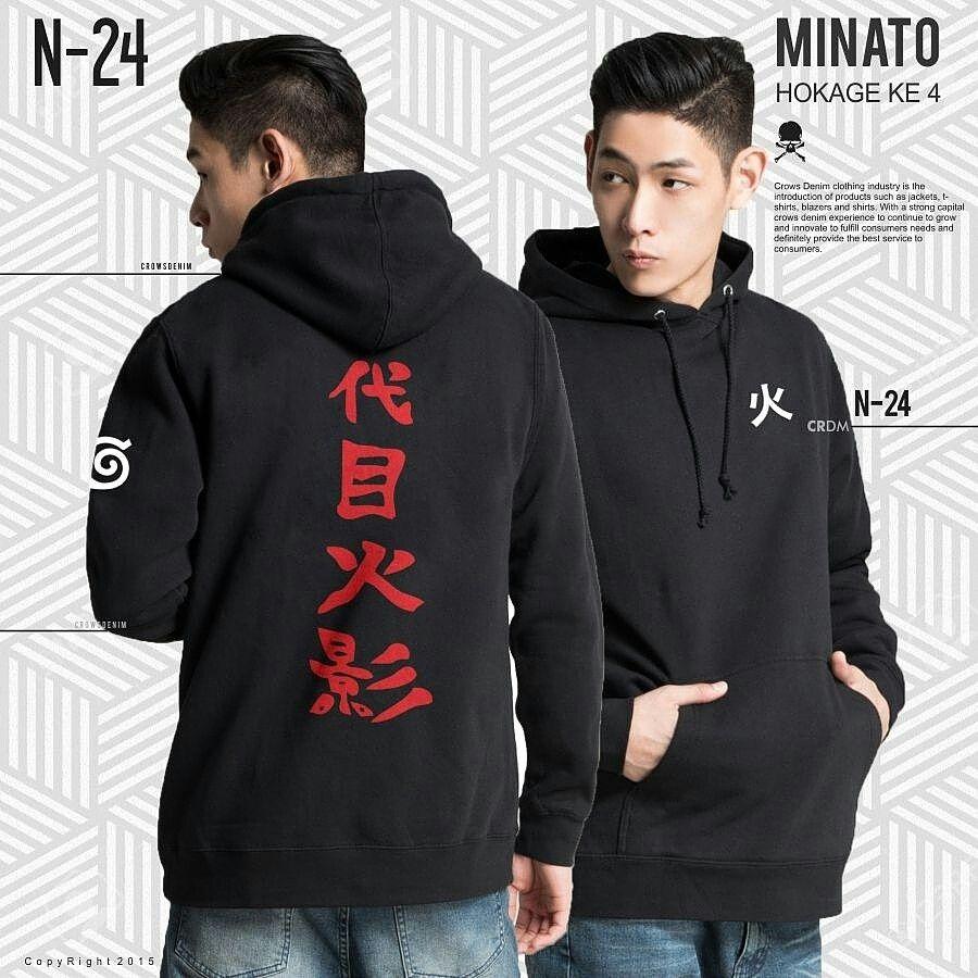 Pin oleh Manzone Fashion di jaket anime Hoodie, Model