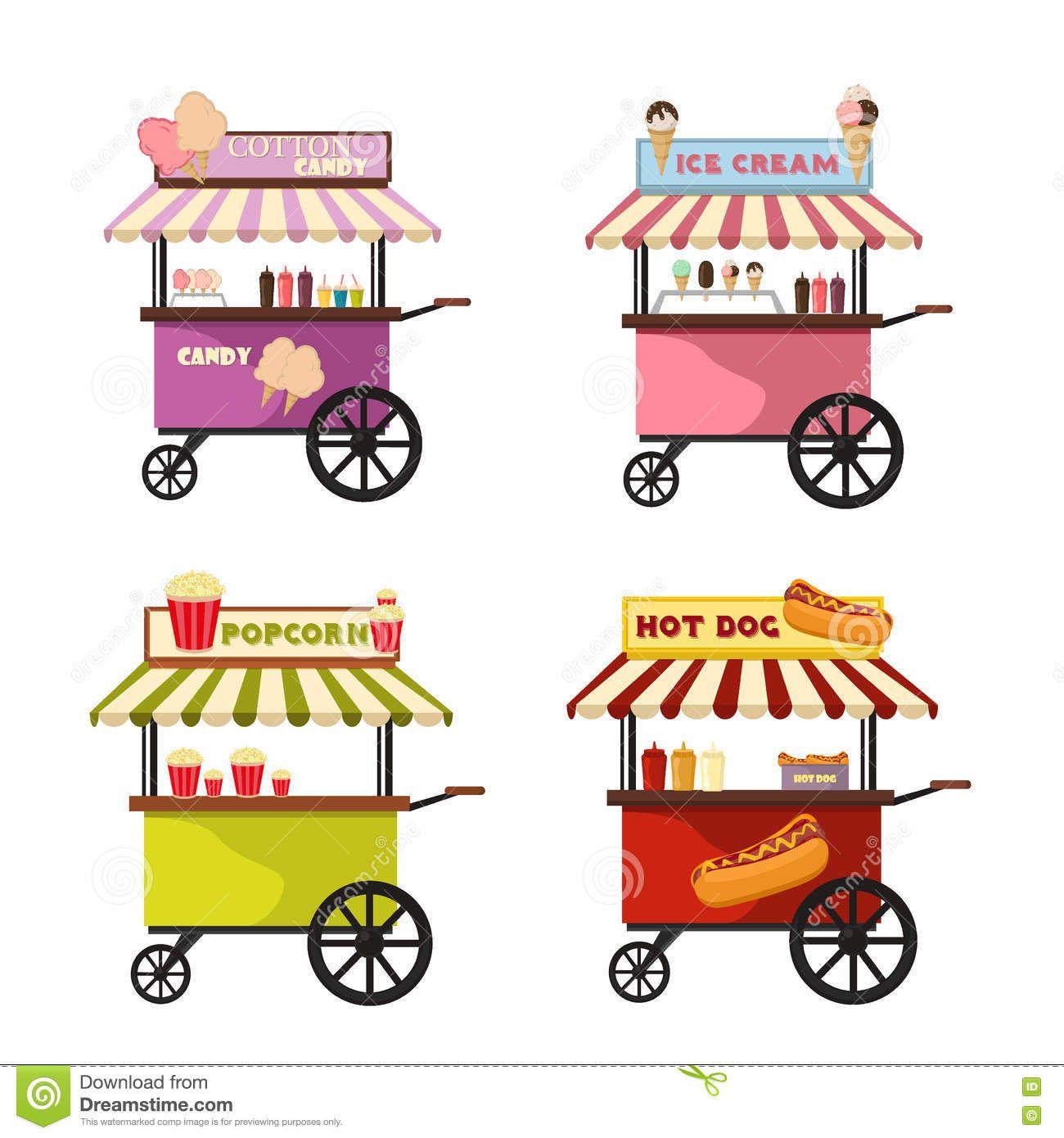 Https Thumbs Dreamstime Com Z Vector Illustration Food Truck Icon Designs Cartoon Trucks Delivery Street Van Fast De Icon Design Truck Icon Food Truck Design