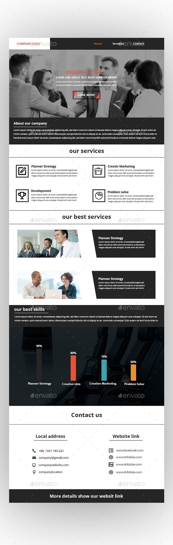 Corporate Email Newsletter Template | Newsletter templates, Email ...