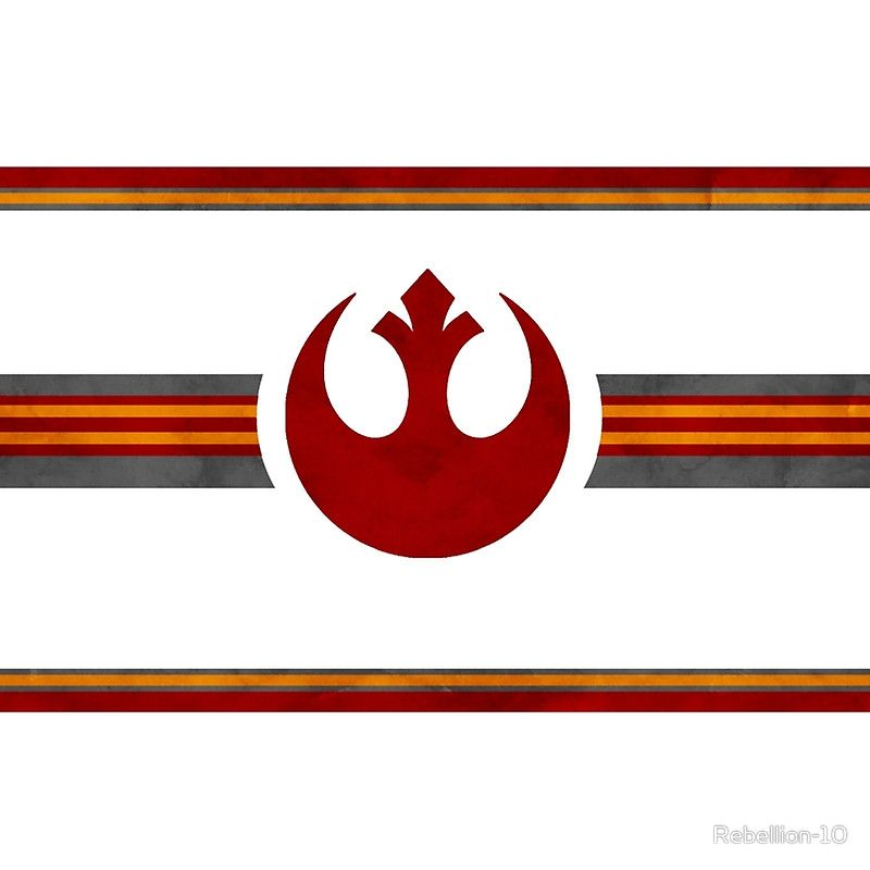 SELL ON REDBUBBLE  Show that you're part of the Rebel Alliance and a rebellious person by showing your friends and foes this logo. It's the alliance starbird from the star wars media. Full in it's glory and a lot of stripes.