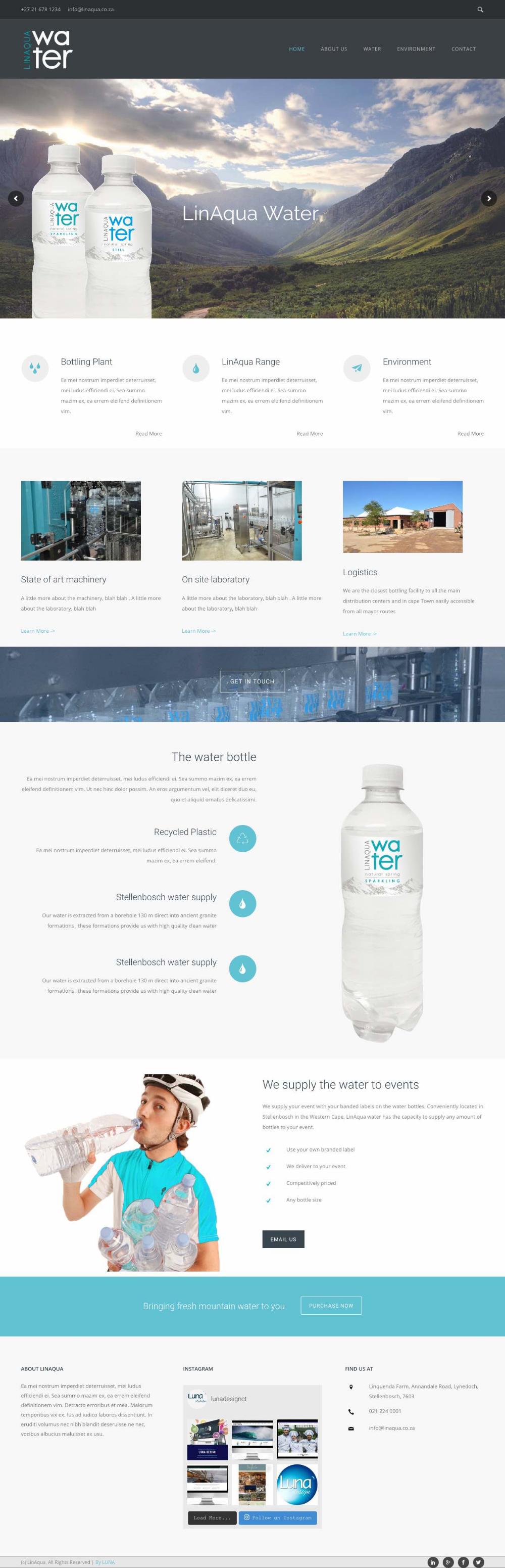 Bottled Water Website Design Website Design Web Design Web Portfolio