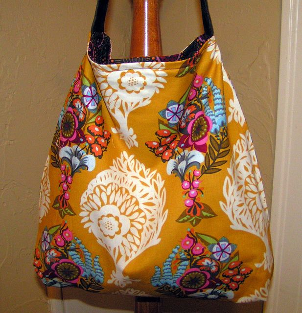 Slouchy Bag in Anna Marie Horner Fabric