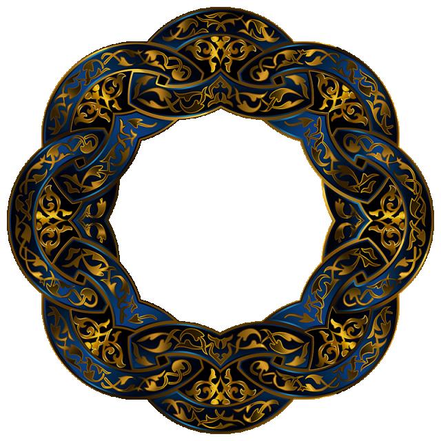 زخرفة الإطار جولة فاخرة فخم ترف مثمن المثمن تصميم Png وملف Psd للتحميل مجانا Ornament Frame Gold Circle Frames Photoshop Backgrounds Free