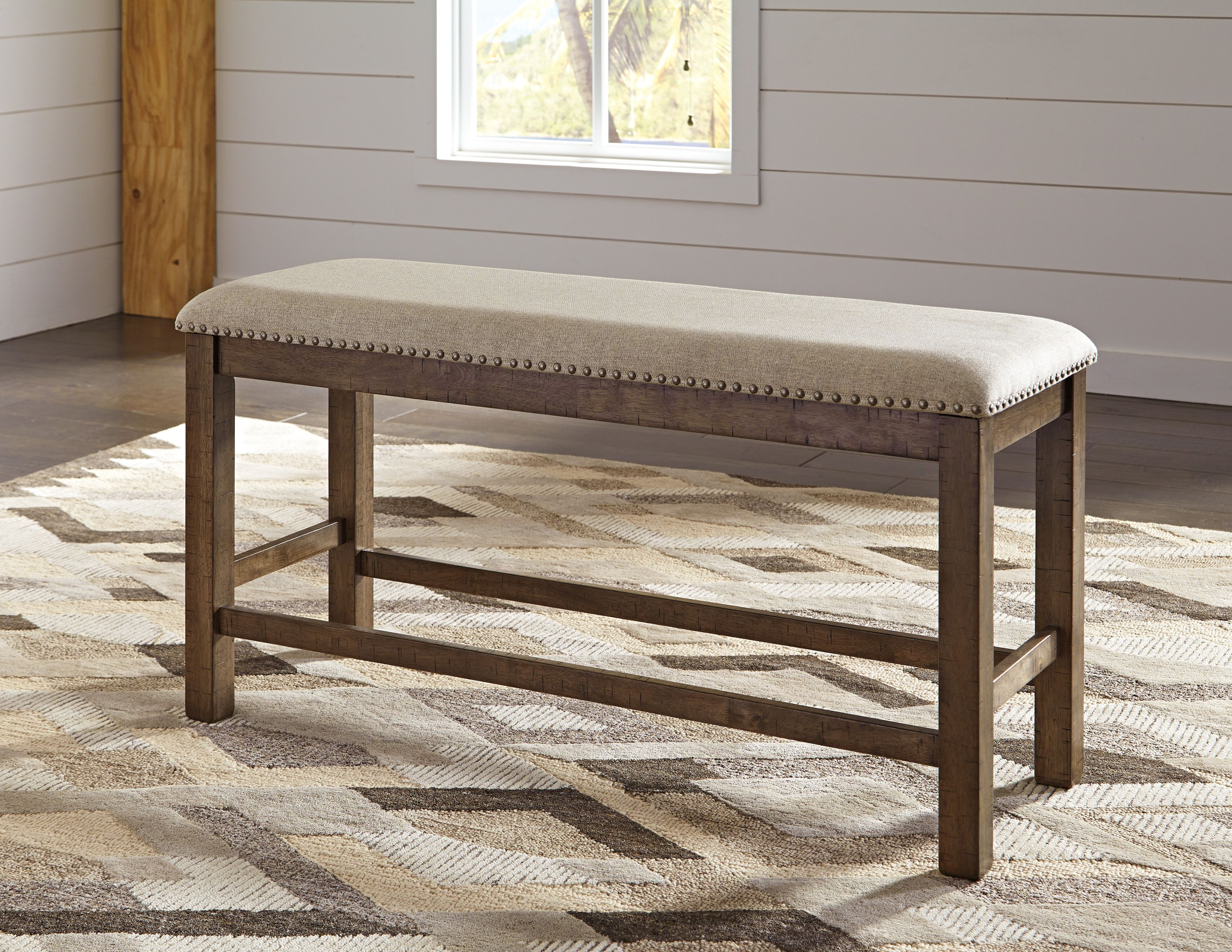 Moriville Double Upholstered Bench By Ashley Ottomans Poufs And