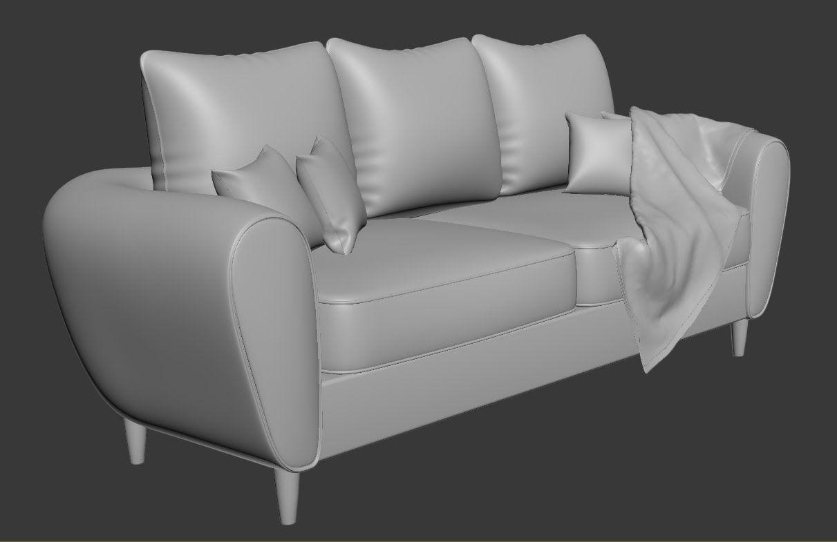 3dsmax Sofa And Pillow Modeling Zbrush Koltuklar