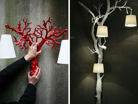 love this idea- I could make this happen with a few hanging lamp kits and some spray paint .... hmmmm