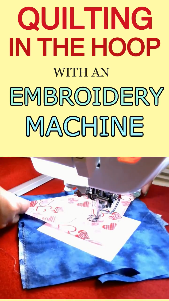 Quilting and piecing in the hoop / quilted sewing machine cover tutorial