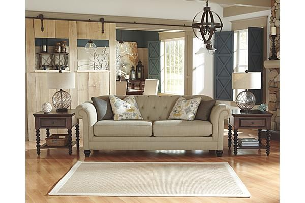 The Hindell Park Putty Sofa From Ashley Furniture