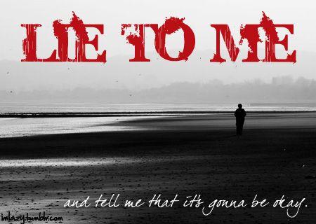 lie to me lyrics by Melissa Rowden