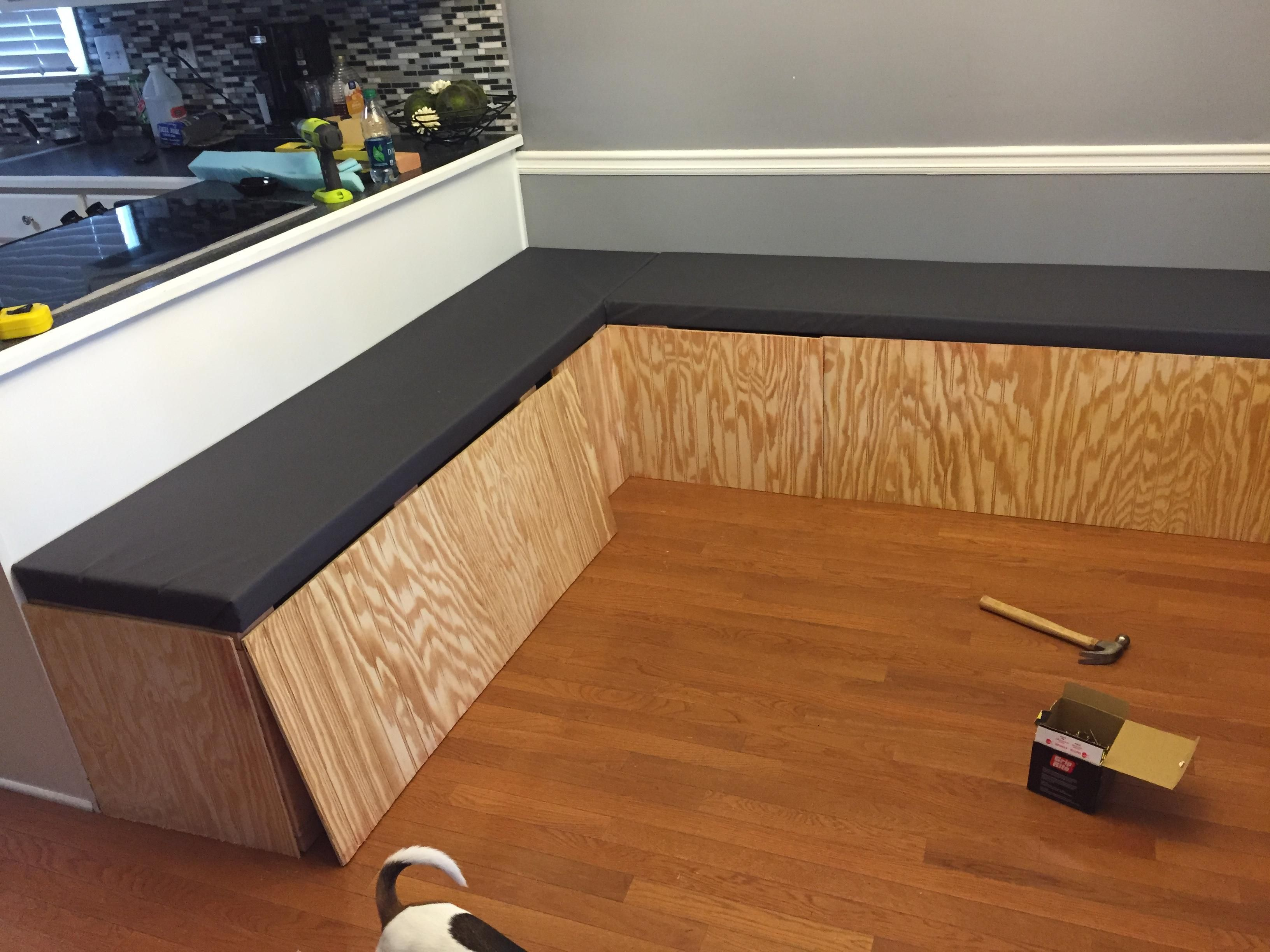 This Diy Dining Booth Will Make Your Kitchen Table Seem So Boring Booth Seating In Kitchen Dining Booth Diy Dining