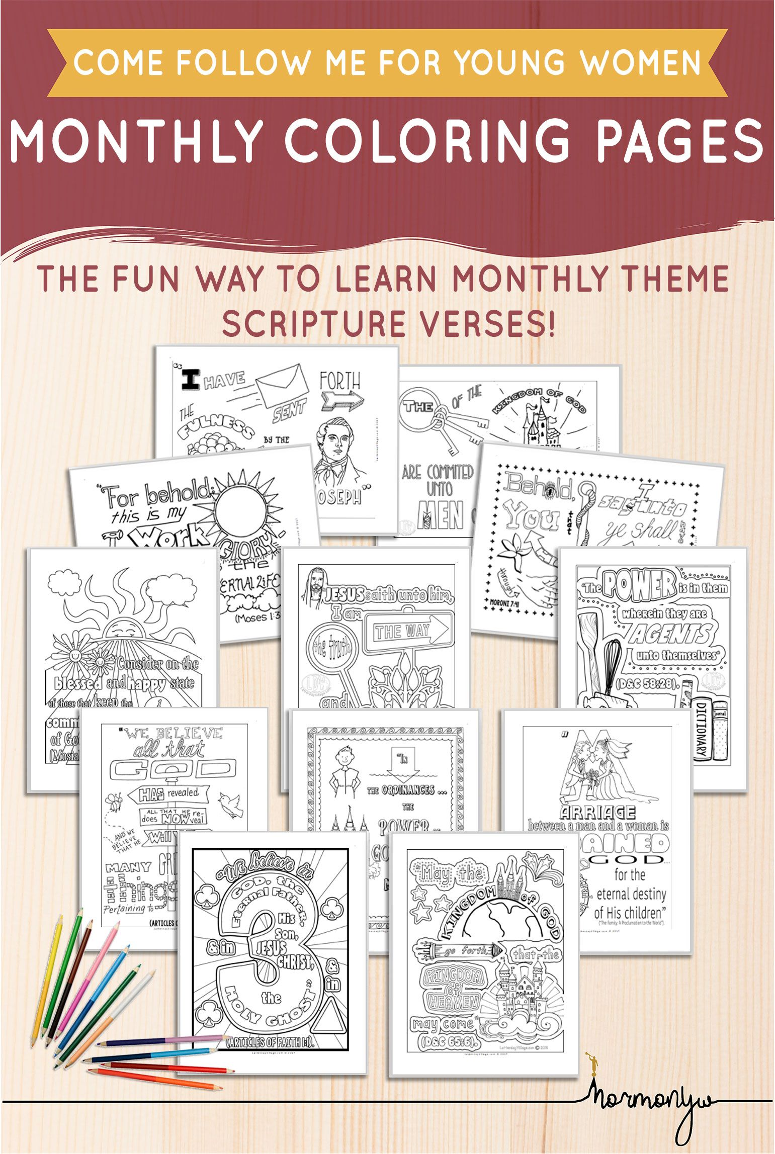 Beautiful Printables Helps Activites For Lds Young Women Personal Progress Cfm Yw Monthly