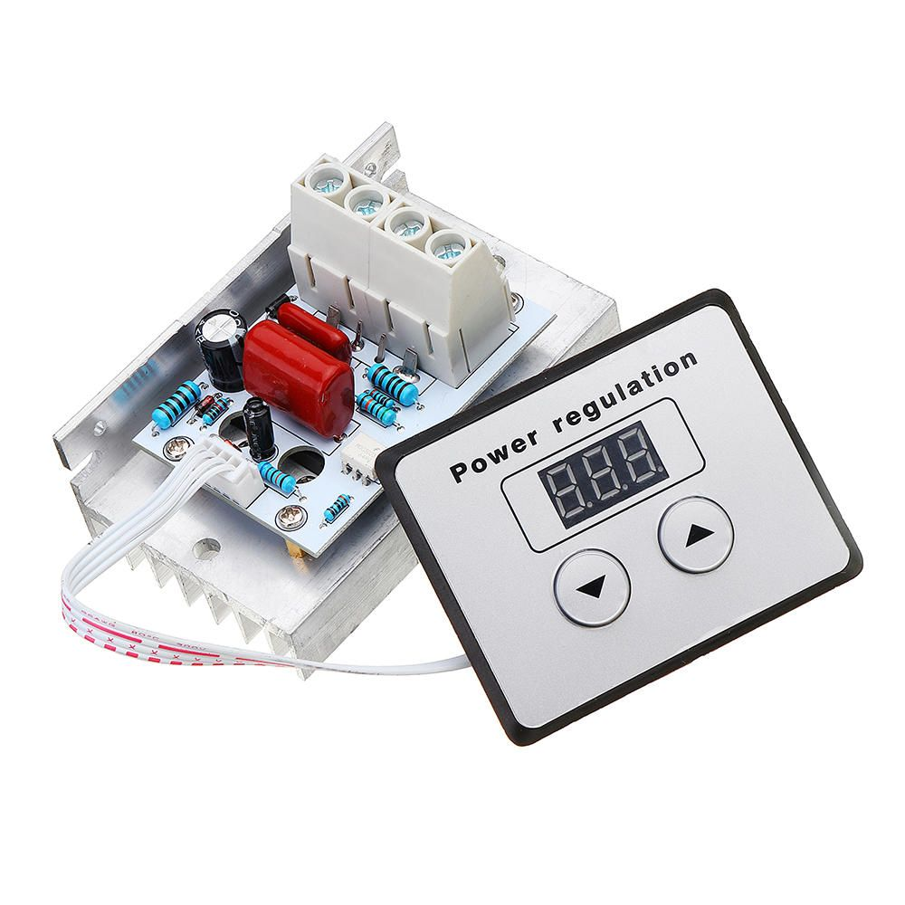 Us 13 89 Ac 220v 10000w 80a Digital Control Scr Electronic Voltage Regulator Speed Control Dimmer Thermostat With Digital Meters Module Board For Arduino From In 2020 Voltage Regulator Thermostat Digital