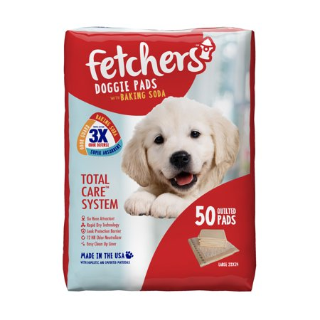 Pet Pads Fetcher S Doggie Pads With Baking Soda 50 Count Large
