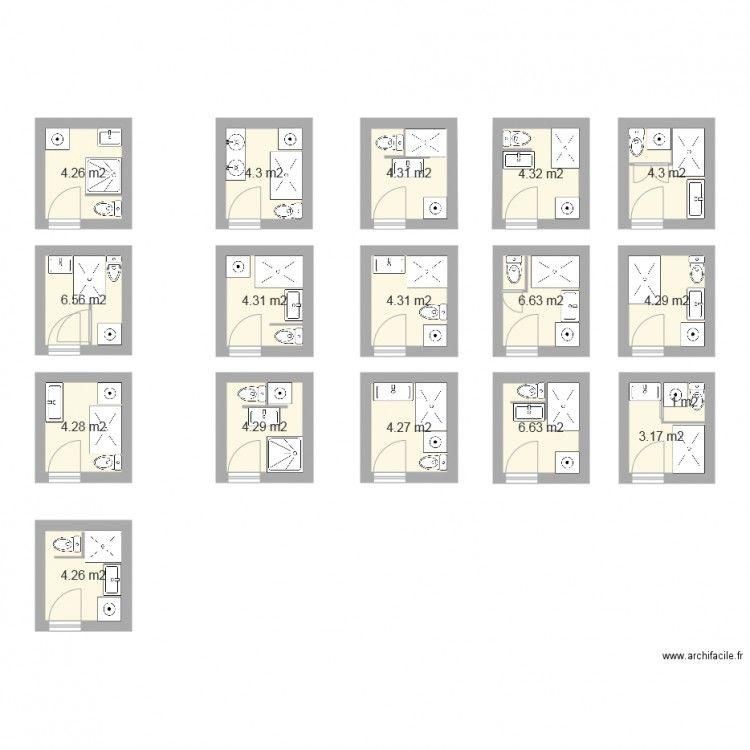 plan salle de bain 3m2 projet salles d 39 eau salle de. Black Bedroom Furniture Sets. Home Design Ideas