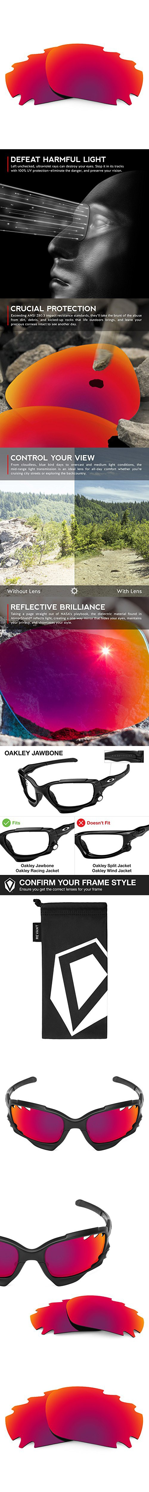 9e8657be3fb Revant Vented Lenses for Oakley Jawbone Polarized Midnight Sun ...