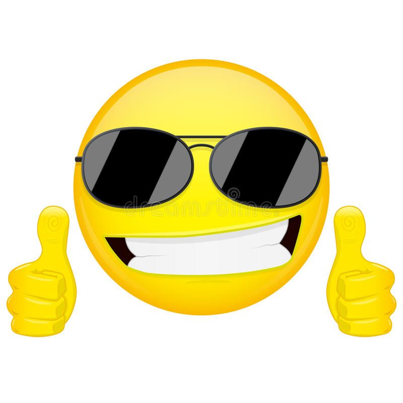 Good Idea Emoji Thumbs Up Emotion Cool Guy With Sunglasses Emoticon Vector Il Sponsored Thumbs Emotion Cool Smile Icon Emoticons Emojis Emoticon