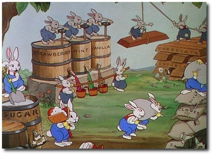 Disney/'s Silly Symphony FUNNY LITTLE BUNNIES Sheet Music 3rd in Series