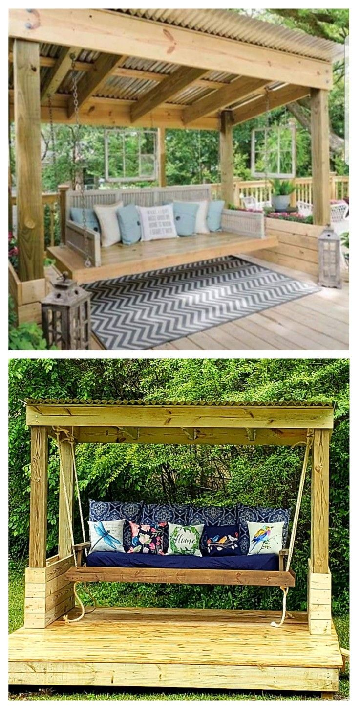 my inspiration picture is on top and my swingshed is the on porch swing ideas inspiration id=19025