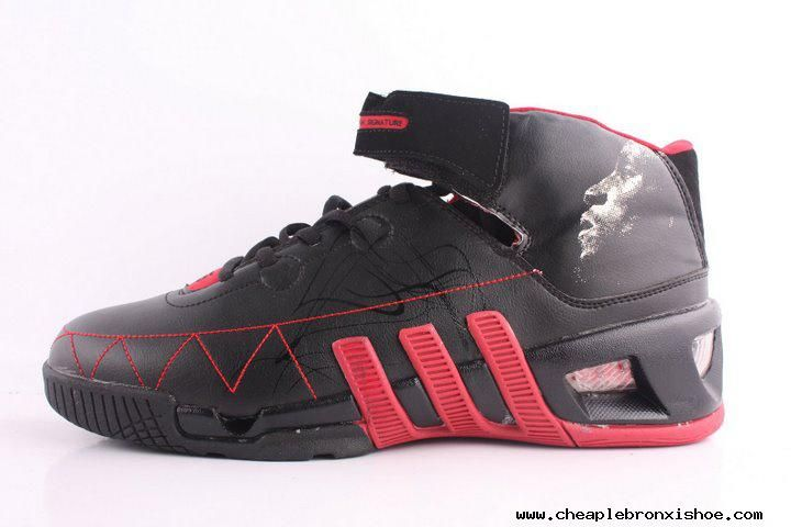 better various colors online for sale Adidas shoes Kevin Garnett VI Basketball shoes Black Red Authentic ...