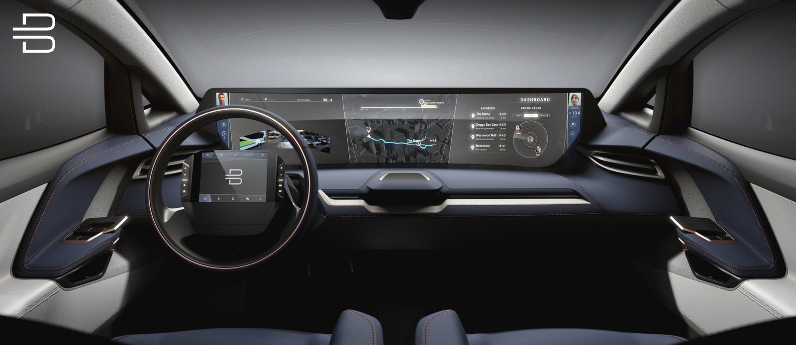 Byton S New Car For Ces Will Feature A Tablet Display In The Weirdest Place Electric Cars Concept Cars Best Compact Suv