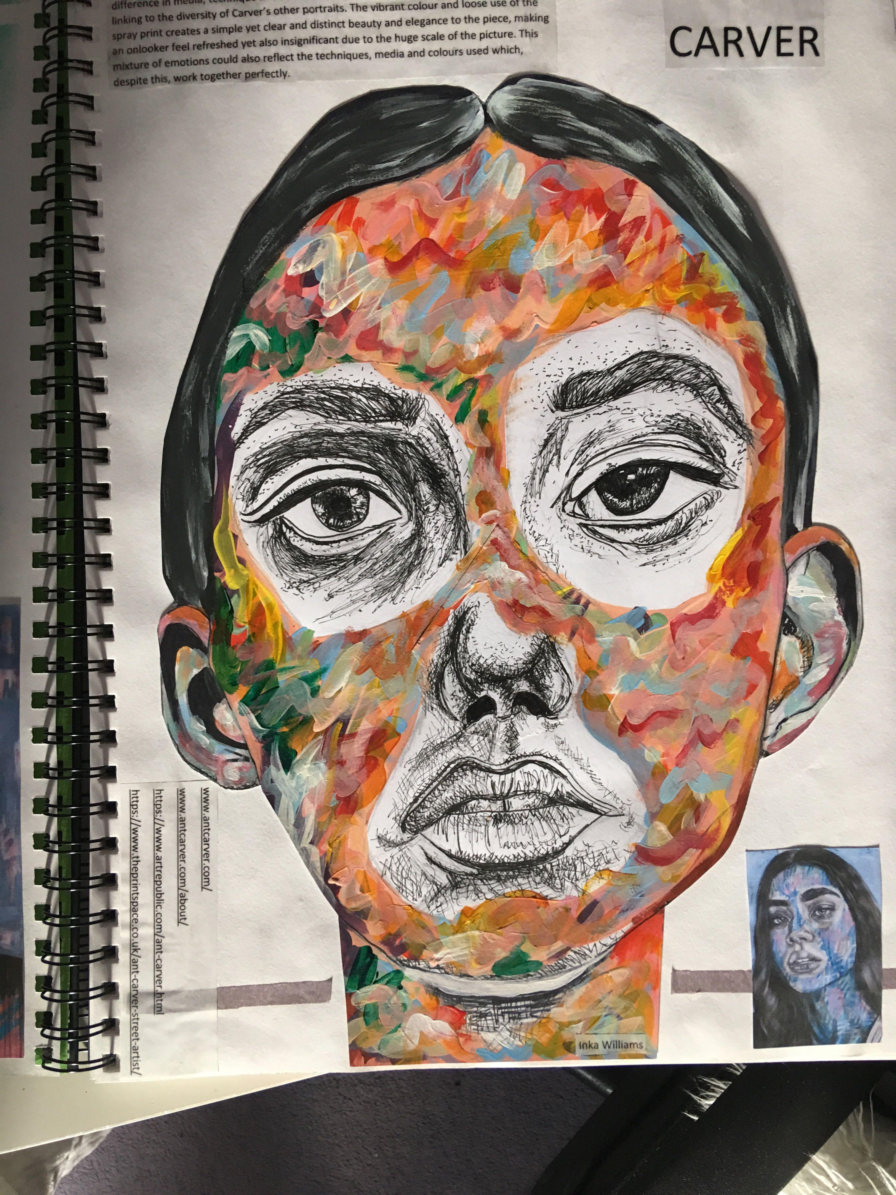 Contemporary Art Cut Pieces Layout Paint
