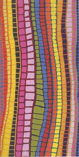 art out write Brandy Tjungarrayi Warlayirti Artists 149 x 74.5cm image courtesy of Yiwarra Kuju: The Canning Stock Route National Museum of Australia 2010