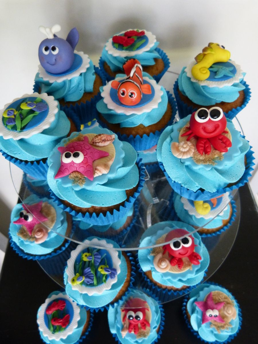 Underwater Sea Creatures Cupcakes in 2019