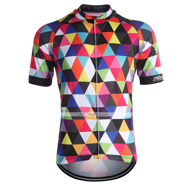 Cycling Jerseys Mens Coolmax Biker Biking Shirts Quick Dry Cycle Sportswear MTB