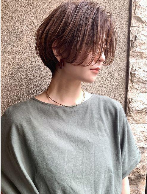 この夏おすすめ☆前髪なし×絶壁解消ひし形ショートボブ:L037291622|マグ ギンザ(mag g