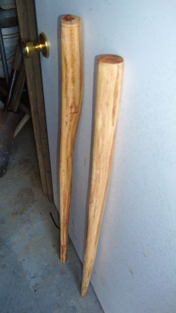 2 - Honey Locust Walking Staffs Sticks Blank Heartwood 41