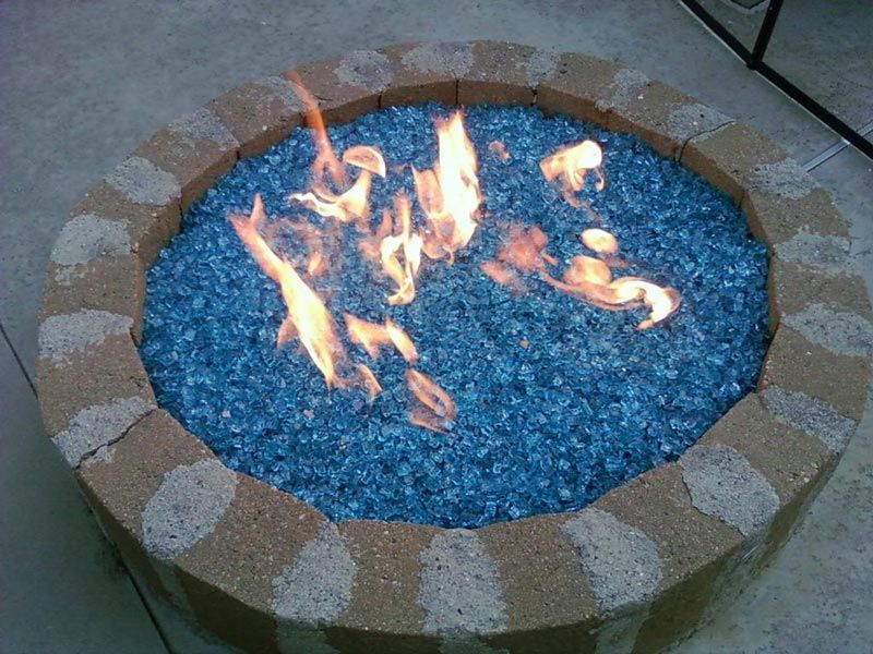 Glass Stone Fire Pit - Glass Stone Fire Pit Fire Pits Pinterest Stone, Glass And Fire