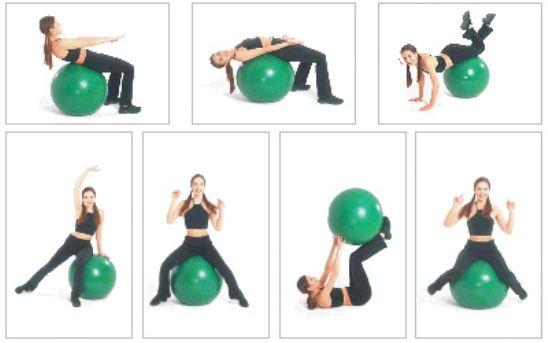 Упражнения фитбол для похудения