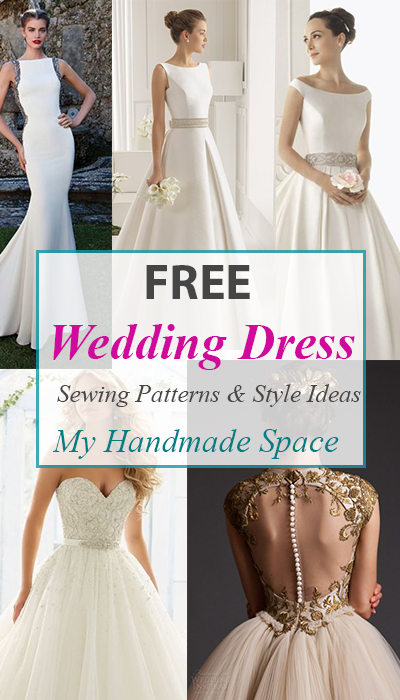 9750ff8a7d41 FREE Wedding Dress Sewing Patterns | Free Patterns | Wedding dress ...