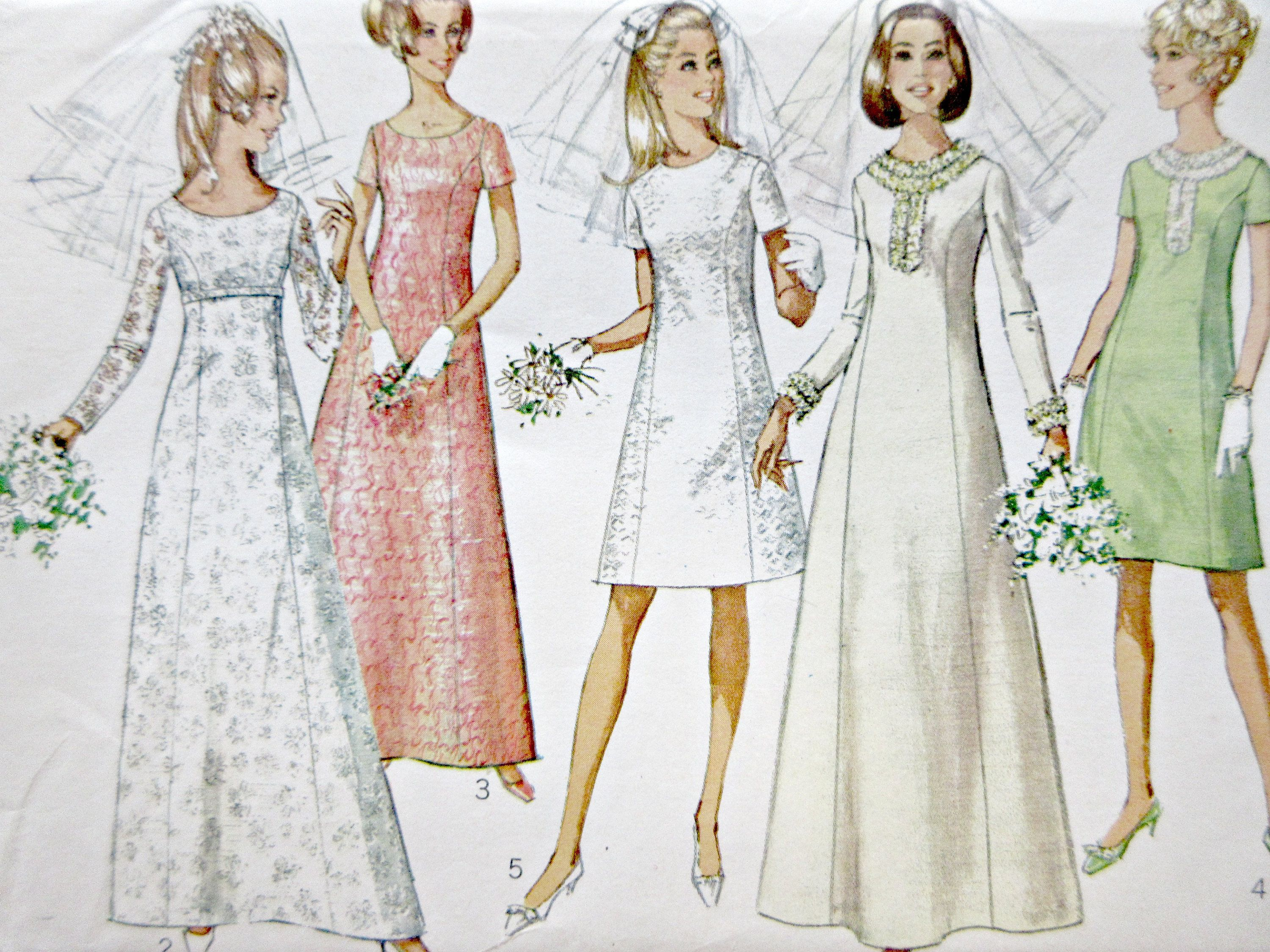 Vintage Simplicity 7538 Sewing Pattern, Wedding Gown