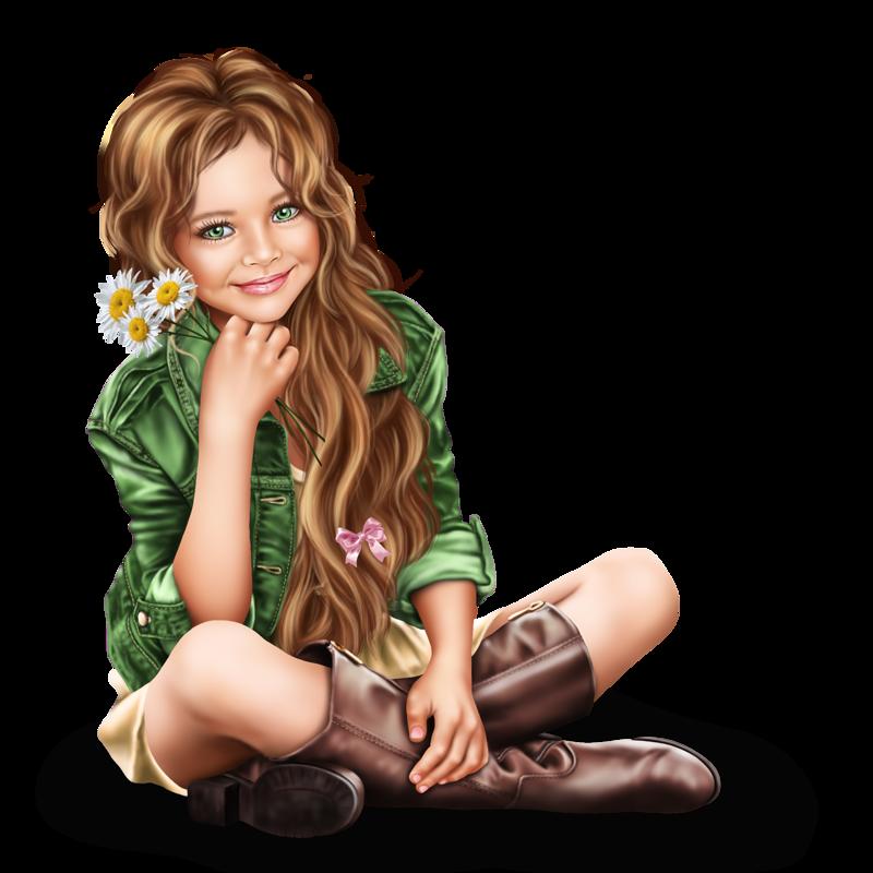 Девушка мультяшная картинки для детей