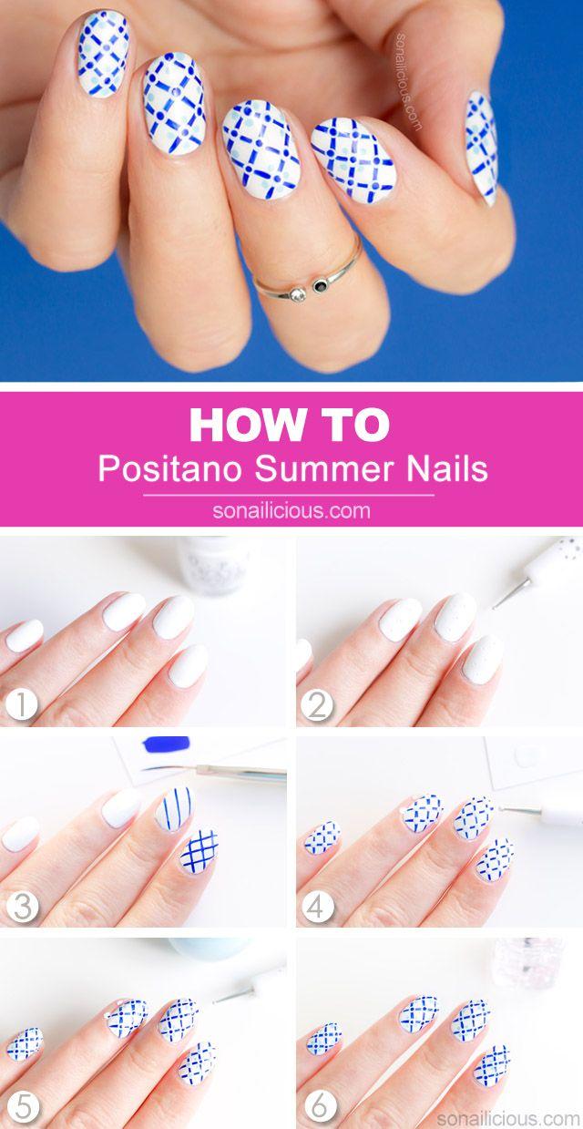 Positano Summer Nails Tutorial Nail Art Summer Nail Designs Spring Summer Nail Tutorials